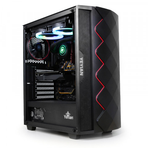 Yeyian PC Gaming Abyss 2500, Black - SKU: YGA-49701