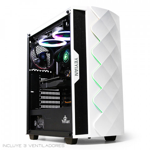 Yeyian Gaming PC Case Abyss Series 2500 White - SKU: YGA-49702