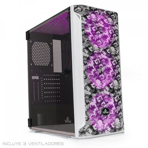 Yeyian Gaming PC Case Hollow Series 2500 White Camouflage - SKU: YGH-49704